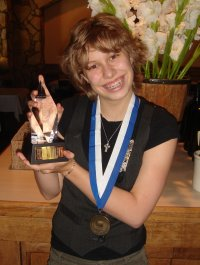 Elizabeth with her awards