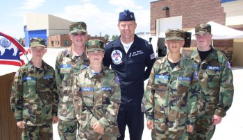 Nathan and fellow cadets with Thunderbirds pilot
