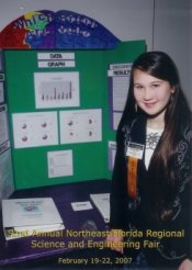 Katelyn with her project